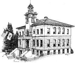 Court House drawing courtesy of the Tuolumne County Historical Society and Museum