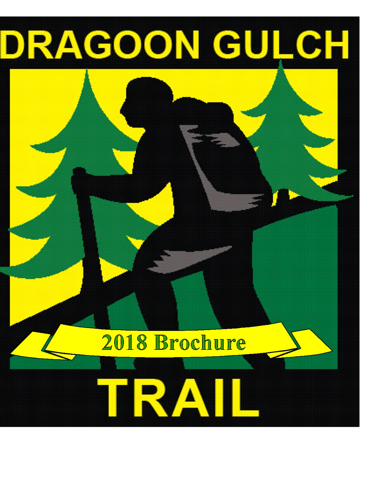 Dragoon Trail 2018 brochure with logo of trail