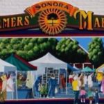 a picture of the mural that is of the farmer's market at the farmer's market