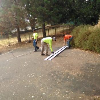 Public Works re-stripping