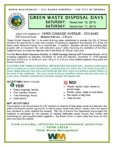 Green Waste Disposal Days @ Cal Sierra Earth Resource Facility   Sonora   California   United States