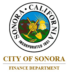 City of Sonora Finance Department