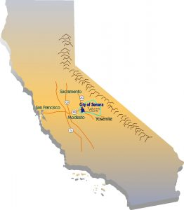 California Map with Sonora highlighted